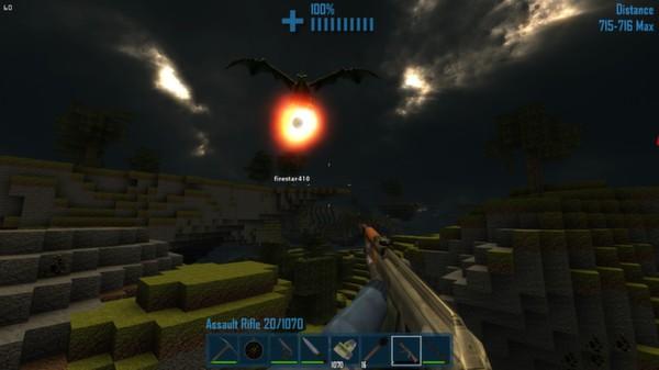 imagen de castle miner z contra dragon